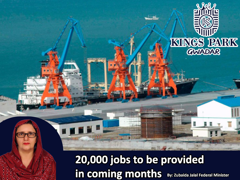 20,000 jobs to be provided in coming months: Zubaida Jalal