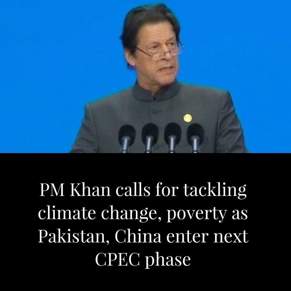 PM Khan calls for tackling climate change